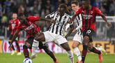Grande partita giornata keempat Liga Italia musim 2021/2022 antara Juventus dan AC Milan berakhir tanpa pemenang. Kedua kesebelasan harus puas berbagi poin. (La Presse via AP/Marco Alpozzi)