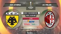 Liga Europa_AEK Athena Vs AC Milan (Bola.com/Adreanus Titus)
