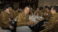 Legenda bulutangkis Indonesia, Rudi Hartono, saat menghadiri Anugerah Leganda Olahraga di Hotel Bidakara, Jakarta, Rabu (13/12/2017). Sebanyak 286 atlet masing-masing mendapatkan 40 juta rupiah. (Bola.com/Vitalis Yogi Trisna)