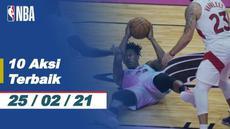Berita Video 10 Aksi Terbaik NBA 25 Februari 2021, Melihat Slam Dunk Keren LeBron James (25/2/2021)
