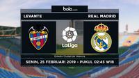 La Liga: Levante Vs Real Madrid (Bola.com/Adreanus Titus)