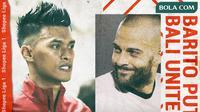 Shopee Liga 1 - Barito Putera Vs Bali United - Duel Pemain (Bola.com/Adreanus Titus)