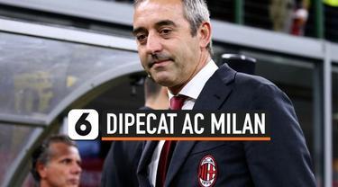 Marco Giampaolo resmi dipecat dari posisinya sebagai pelatih tim utama AC Milan. Giampaolo yang muncul musim panas tahun lalu hanya sanggup bertahan tujuh pertandingan dengan durasi 111 hari.