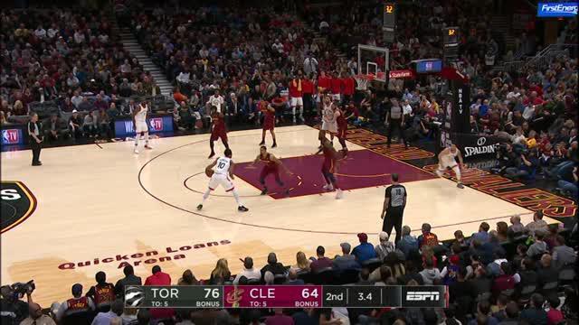 Berita video game recap NBA 2017-2018 antara Cleveland Cavaliers melawan Toronto Raptors dengan skor 132-129.