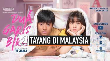 Setelah berhasil mendapatkan 2.538.473 penonton di Indonesia, film Dua Garis Biru menempati posisi kedua sebagai film terlaris sementara 2019. Kini, film karya sutradara Gina S. Noer ini masuk ke bioskop-bioskop Malaysia pada 3 Oktober 2019.
