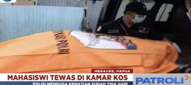 Seorang wanita yang baru saja wisuda ditemukan tewas di dalam kamar kos di Seringgu, Merauke, Papua.