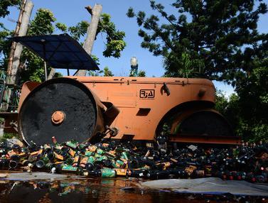 Operasi Pekat Jaya 2018, Polda Metro Musnahkan Ribuan Botol Miras