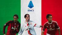 Serie A - Paolo Maldini, Franco Baresi, Alessandro Nesta (Bola.com/Adreanus Titus)