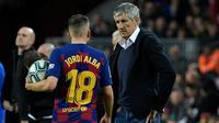 Pelatih Barcelona, Quique Setien. (AFP/Lluis Gene)