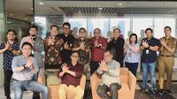 Wakil Wali Kota Tangerang Selatan Benyamin Davnie menyambangi kantor pusat PT Telkom Indonesia di bilangan Gatot Subroto, Jakarta Pusat. (istimewa)