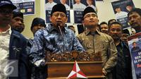 Partai Demokrat resmi mengusung Wahidin Halim-Andika Hazrumi sebagai pasangan calon gubernur dan wakil gubernur Provinsi Banten pada pilkada serentak 2017, Jakarta, Senin (8/8). (Liputan6.com/Johan Tallo)