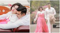 Ali Syakieb dan Margin Wieheerm tampil romantis di pemotretan terbaru. (Sumber: Instagram/@joevithathe/@marginw)