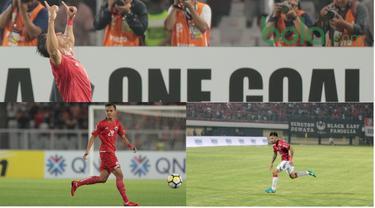 Rezaldi Hehanusa, Stefano Lilipaly dan Addison Alves dinobatkan sebagai pencetak gol terbaik Piala AFC 2018. (Bola.com/Nick Hanoatubun)
