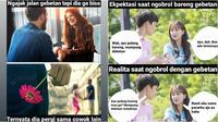 Ekspektasi vs realita saat bersama gebetan (Sumber: Instagram/sejiwatinja)