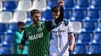 Chelsea dan Borussia Dortmund tertarik mengamankan jasa Domenico Berardi yang tampil mengesankan di Timnas Italia pada Euro 2020. (AFP/Miguel Medina)