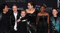 Foto Angelina Joli beserta anaknya dalam premier Maleficent 2 (dok Instagram @instylemagazine/https://www.instagram.com/p/B3Fav0JANHz/Ossid Duha Jussas Salma)
