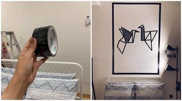 Bermodalkan Lakban, Dinding Rumah Bisa Jadi Keren dengan Biaya Murah
