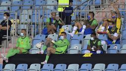 Pada laga melawan Ekuador, Brasil tak menurunkan beberapa pemain penting seperti Neymar, Richarlison, dan Thiago Silva di starting eleven mereka. Hal ini karena Brasil sudah dipastikan lolos ke babak perempatfinal Conmebol Copa America 2021. (Foto: AFP/Douglas Magno)
