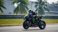 Valentino Rossi pada sesi tes pramusim MotoGP 2020 di Sirkuit Sepang, Malaysia (Twitter/Yamaha)