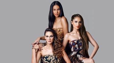 7 Gaya Luna Maya, Anya Geraldine dan Cinta Laura saat Pemotretan dengan Kain Batik