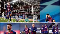Barcelona hancur lebur saat bertanding melawan Bayern Munchen di perempat final Liga Champions. Berikut ekspersi Lionel Messi dkk usai Barcelona dibobol delapan gol oleh Bayern Munchen.