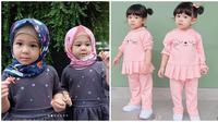 Potret Kelakuan Anak Kembar Ini Bikin Gemas, Cantik dan Lucu (sumber/Instagram:@erwinset )