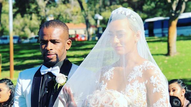 Bintang Madura United, Greg Nwokolo menikahi model cantik, Kimmy Jayanti.