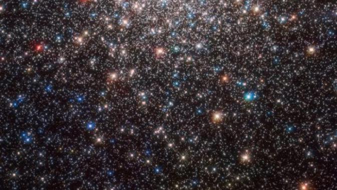 Teleskop angkasa luar Hubble menangkap gambar galaksi yang disebut Messier 28. (Kredit: ESA / Hubble & NASA, J.E. Grindlay et al.)