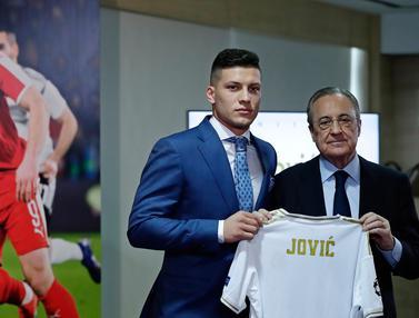 Luka Jovic Resmi Diperkenalkan Jadi Pemain Baru Real Madrid