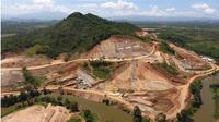 Proyek pembangunan Bendungan Way Sekampung (Sukoharjo) di Kabupaten Pringsewu, Provinsi Lampung. (Foto: Kementerian Pekerjaan Umum dan Perumahan Rakyat atau PUPR)