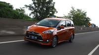 Media test drive Toyota Sienta dengan rute Jakarta-Bandung (Istimewa)