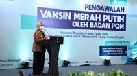 """Kepala BPOM Penny K Lukito menjelaskan saat ini ada 6 institusi yang melakukan pengembangan Vaksin Merah Putih dengan berbagai jenis platform saat """"Workshop Pengawalan Vaksin Merah Putih"""" di Jakarta, Selasa (13/4/2021). (Dok BPOM RI)"""