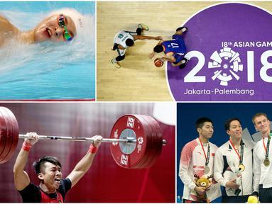 Berikut ini kumpulan momen menarik saat perhelatan akbar Asian Games 2018 di Jakarta dan Palembang. (Foto-foto Kolase Bola.com dan AFP)