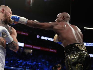 Taklukan McGregor, Mayweather Jr Menang TKO di Ronde ke-10
