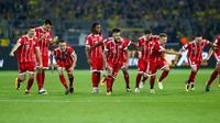 Reaksi para pemain Bayern Munchen setelah memastikan kemenangan atas Borussia Dortmund melalui adu penalti. (doc. Bayern Munchen)