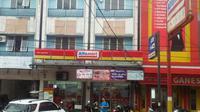 Waralaba minimarket Alfamart di Kota Palembang Sumsel (Liputan6.com / Nefri Inge)