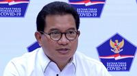 Di Kantor Presiden Jakarta, Kamis (6/5/2021), Juru Bicara Satgas COVID-19 Wiku Adisasmito meminta masyarakat memahami dengan baik kebijakan pelarangan mudik 2021 yang telah disosialisasikan. (Biro Pers Sekretariat Presiden)
