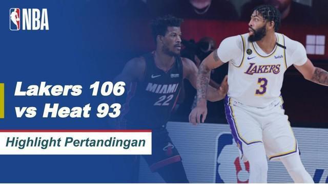 Berita video highlights gim 6 Final NBA 2020 antara LA Lakers melawan Miami Heat yang berakhir dengan skor 106-93, Senin (12/10/2020) pagi hari WIB.