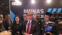 Ketua Peradi Juniver Girsang dalam Munas III di Ancol, Jakarta Utara (28/2/2020)