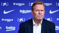 Hal itu sudah tertuang dalam klausul kontrak yang ditandangan Ronald Koeman ketika bergabung bersama Timnas Belanda. (AFP/Josep Lago)