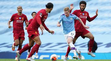 Manchester City Bungkam Liverpool 4-0
