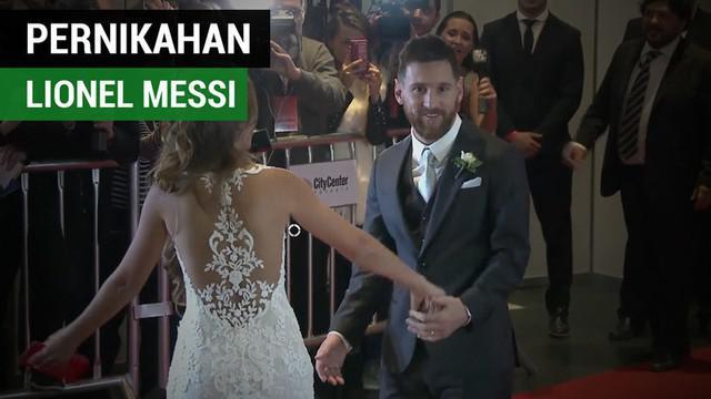 Berita video keanehan yang terjadi di acara pernikahan bintang Barcelona asal Argentina, Lionel Messi. Apa yang terjadi?