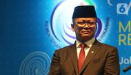 Edhy Prabowo dalam acara serah terima jabatan (Sertijab) Menteri Kelautan dan Perikanan di Kantor KKP, Jakarta, Rabu (23/10/2019). Edhy yang merupakan politisi Partai Gerindra menggantikan Susi Pudjiastuti pada Kabinet Indonesia Maju periode 2019-2024. (Liputan6.com/Herman Zakharia)