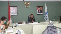 Apkasi menggelar webinar bertopik Kewenangan Daerah dalam Bidang Investasi dan Perijinan Usaha pada Undang-Undang Cipta Kerja (UU CK) di Jakarta. (Istimewa)