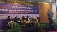 Agung Harsoyo, Komisioner BRTI di dalam Seminar Indonesia Techonology Forum. Liputan6.com/Jeko Iqbal Reza