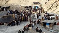 Tambang Batu Bara Pakistan Runtuh, 23 Penambang Tewas Tertimbun (STR / AFP)