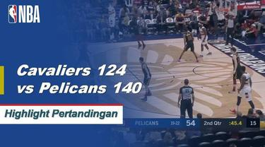 Anthony Davis menyelesaikan dengan 38 poin dan 13 rebound membawa Pelican menang 3 kali berturut-turut