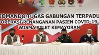 Ketua Satgas COVID-19 Doni Monardo memberikan arahan di RSDC Wisma Atlet Kemayoran Jakarta, Kamis (20/5/2021). (Tim Komunikasi Satgas COVID-19)
