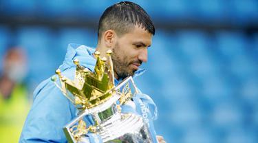 FOTO: Perpisahan Manis Sergio Aguero di Manchester City, Cetak Gol dan Juara Liga Inggris