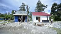 Kementerian PUPR tengah menyelesaikan pembangunan rumah khusus (Rusus) bagi masyarakat korban kerusuhan di Wamena, Papua. (Dok Kementerian PUPR)